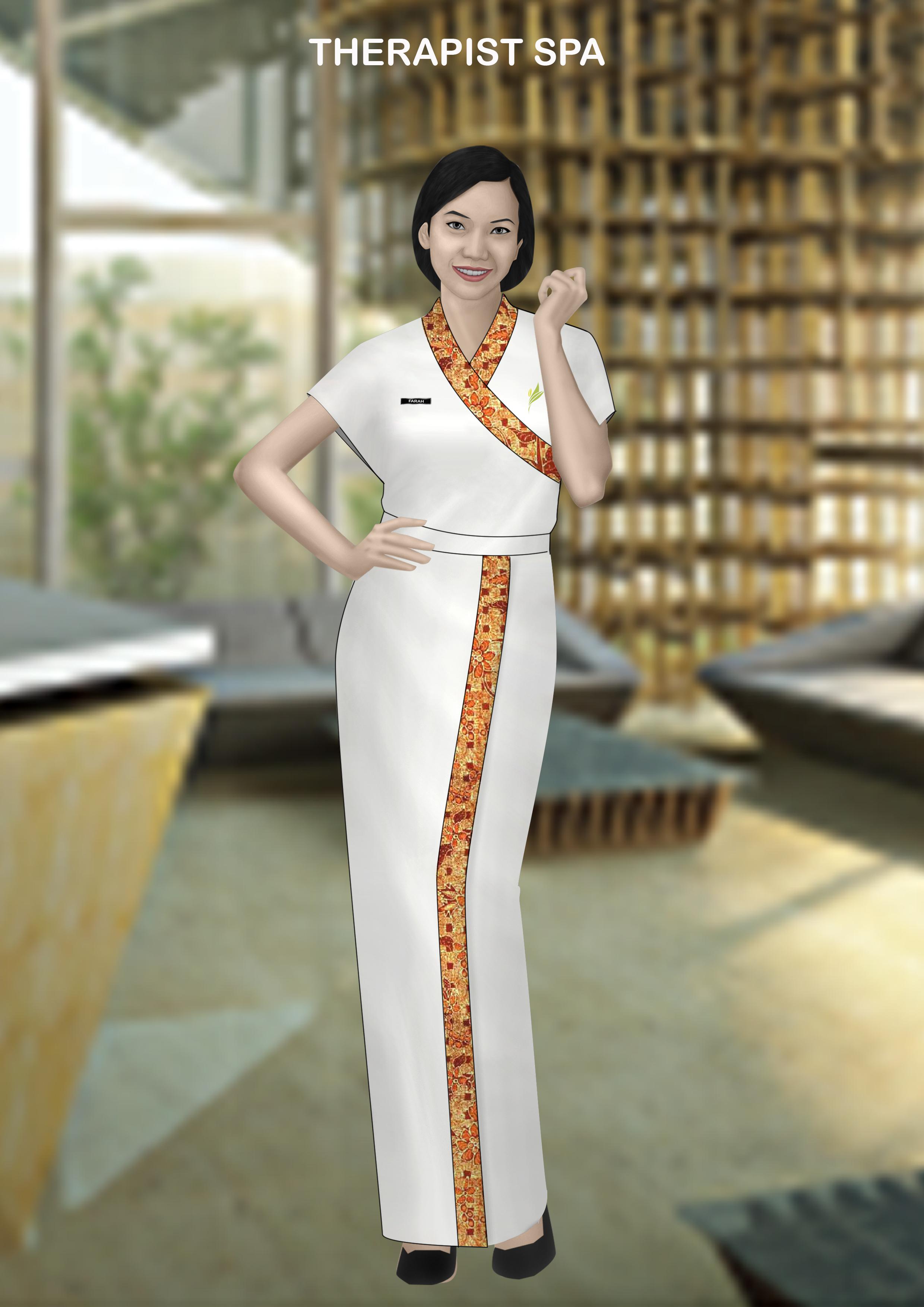 Seragam hotel malino highlands for Spa uniform indonesia